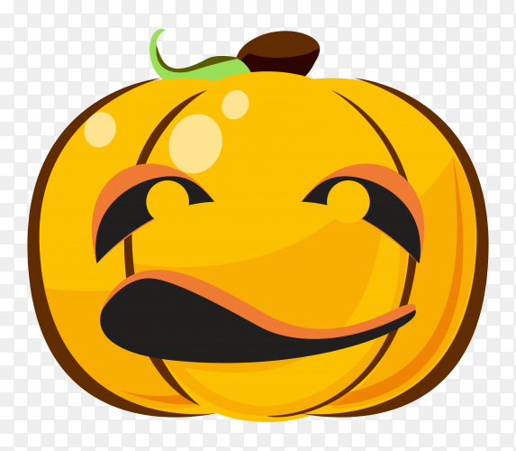 Halloween pumpkin character on transparent background PNG