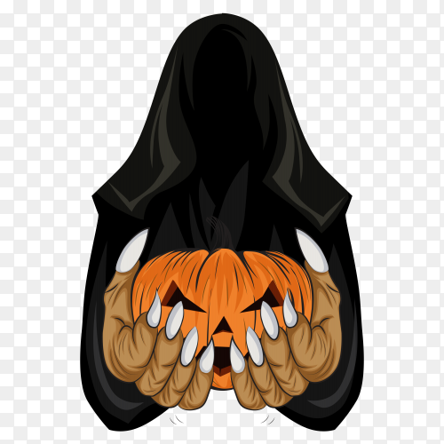 Halloween theme on transparent background PNG