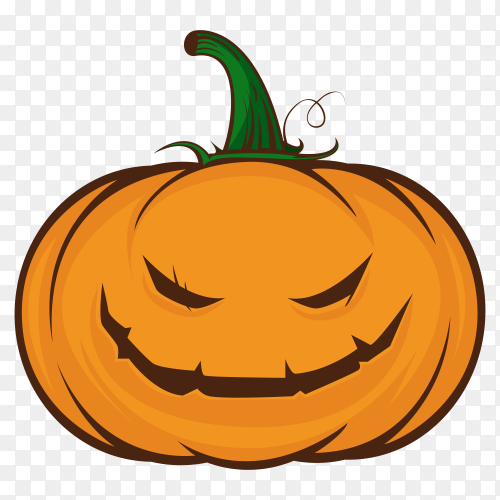 Happy halloween pumpkin emoji on transparent background PNG