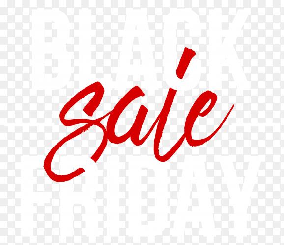 Illustration of black friday sale poster on transparent background PNG