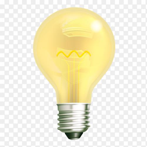 Illustration of light bulb on transparent background PNG