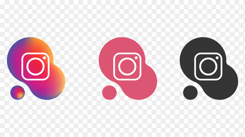Instagram icons on transparent background PNG