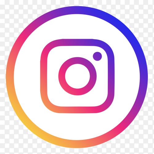 Instagram logo design clipart PNG