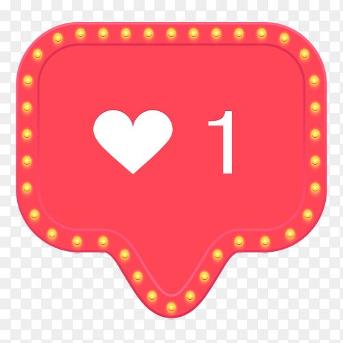 Intsagram like icon on transparent background PNG