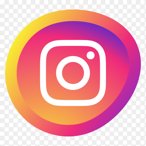 Intsagram logo on transparent PNG