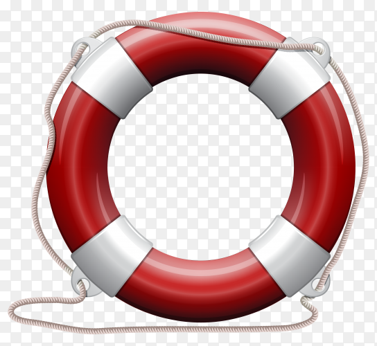 Lifebelt lifebuoy on transparent background PNG