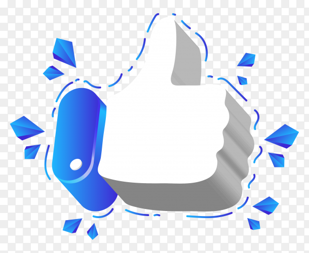 Like logo on transparent background PNG
