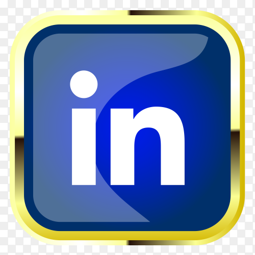 Linkedin logo on transparent  background PNG
