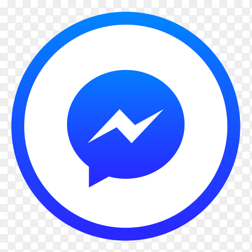 Messenger icon design on transparent background PNG
