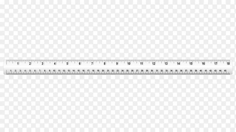 Measure ruler tape on transparent background PNG