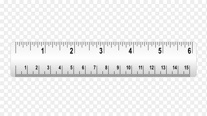 Measure tape ruler on transparent background PNG
