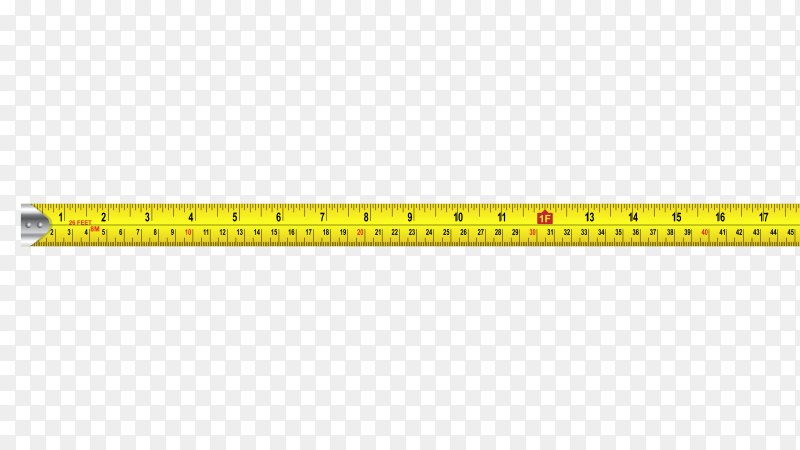Measuring tape on transparent background PNG