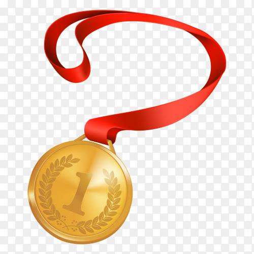 Medal of winner design on transparent background PNG