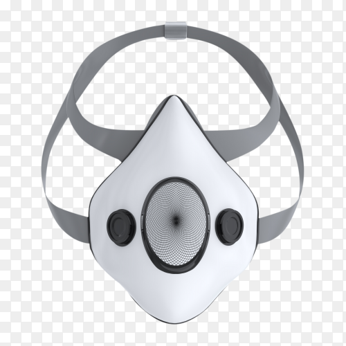 Mediacl mask isolated on trransparent background PNG