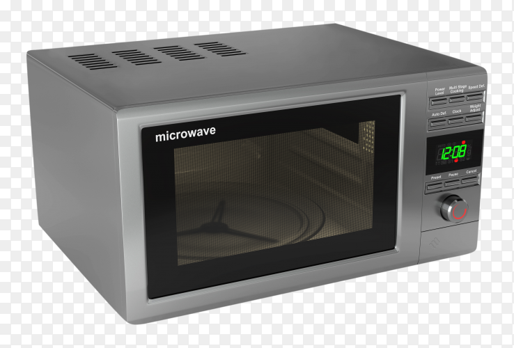 Microwave oven isolated on transparent background PNG