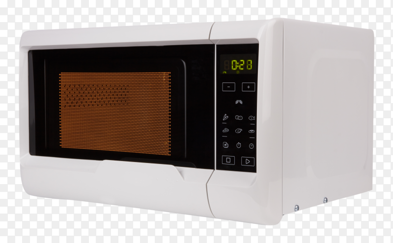 Microwave oven on transparent background PNG