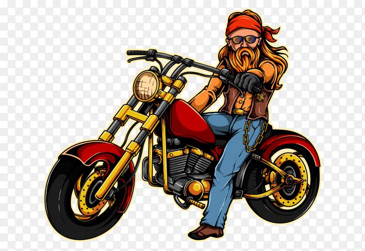 Motorcycle Biker Gang on transparent background PNG