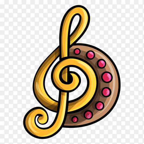 Music icon design on transparent background PNG
