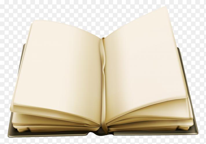 Open book Illustration on transparent background PNG