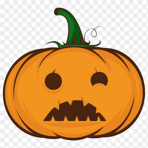 Orange pumpkin halloween on transparent background PNG