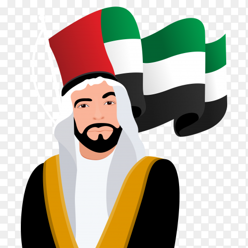 Prince of the Emirates on transparent background PNG