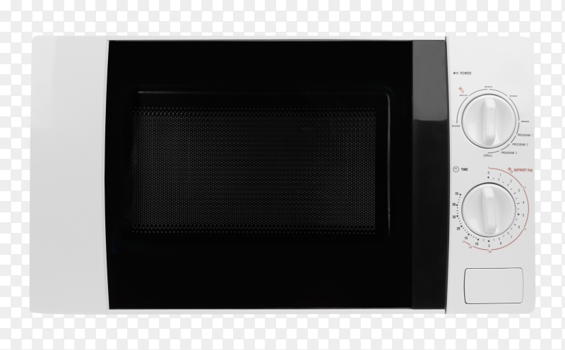 Realistic microwave oven on transparent background PNG