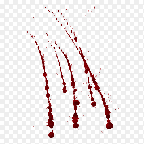 Red blood isolated on transparent background PNG