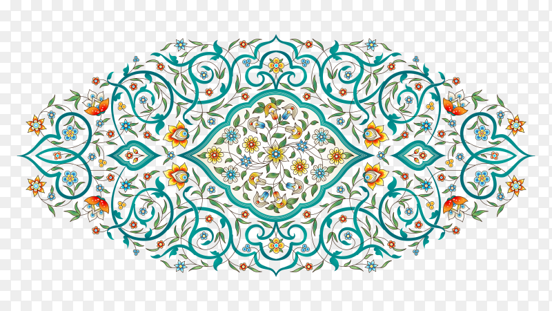 Seamless floral pattern on transparent background PNG