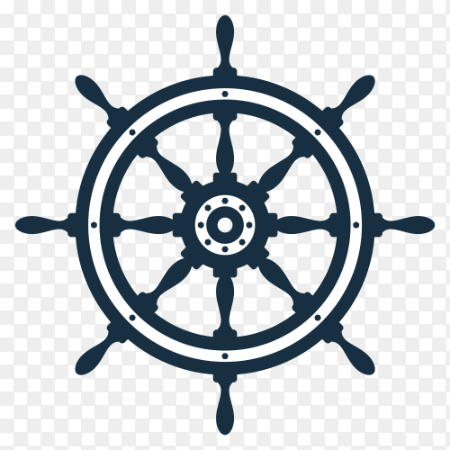 Ship wheel Illustration on transparent background PNG