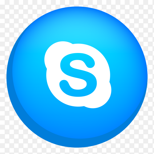 Skype logo clipart PNG