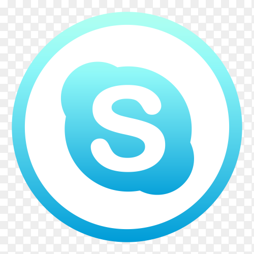 Skype logo on transparent background PNG