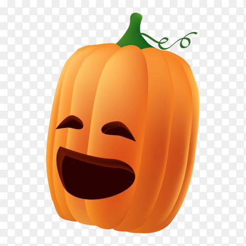 Smiling halloween pumpkin on transparent background PNG