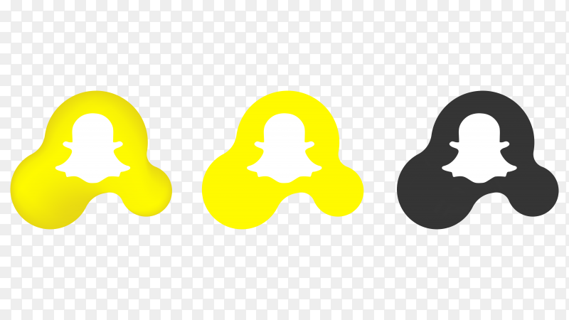 Snapcaht icons on transparent background PNG