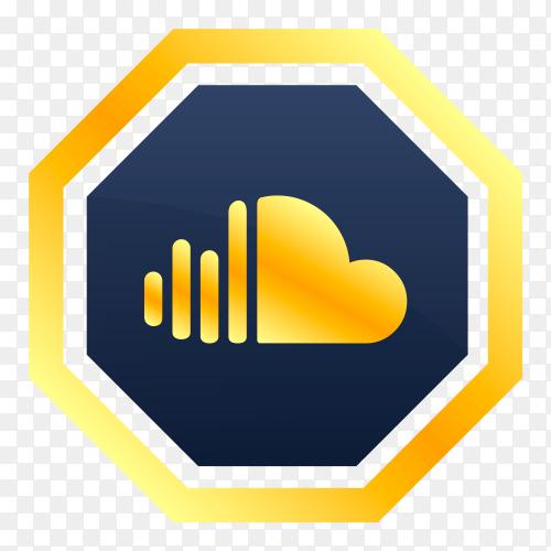 Soundcloud logo on transparent background PNG