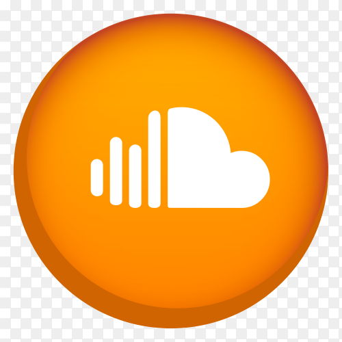 Soundcloud logo on transparent background PNG