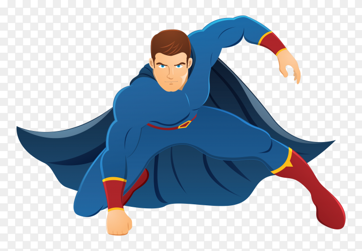 Superhero cartoon design on transparent background PNG