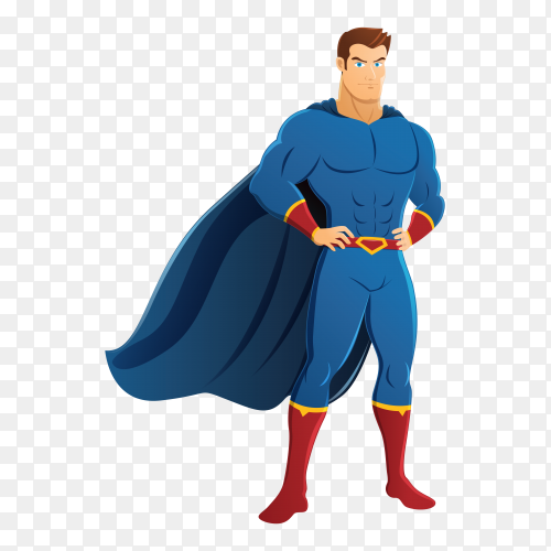 Superhero character on transparent background PNG