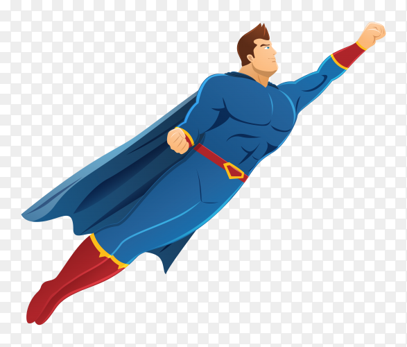 Superhero concept illustration on transparent background PNG