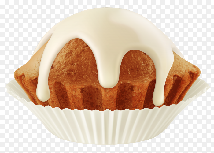 Tasty cupcake isolated on transparent background PNG