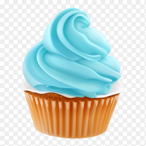 Tasty cupcake on transparent background PNG