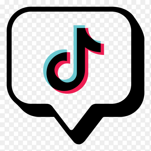 Tiktok icon logo on transparent PNG
