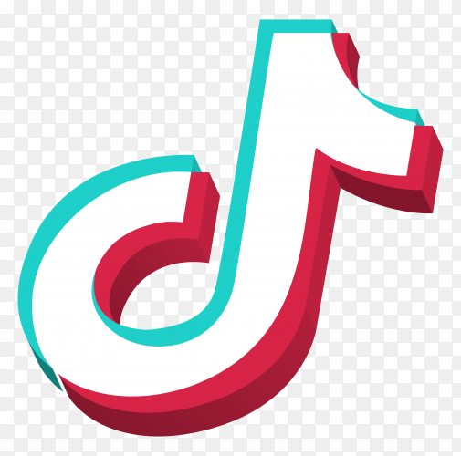 Tiktok icon logo on transparent background PNG