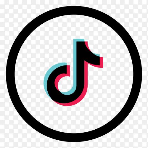 Tiktok icon logo premium vector PNG