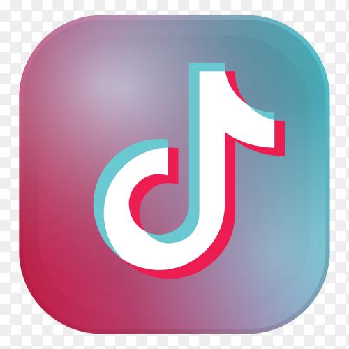 Tiktok logo design vector PNG