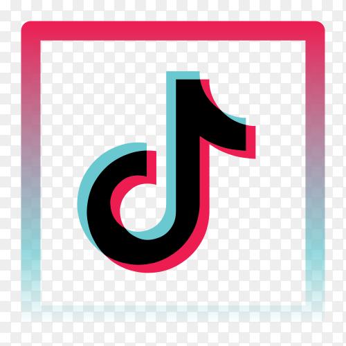 Tiktok logo icon clipart PNG