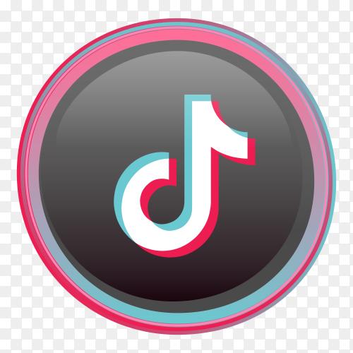 Tiktok logo minimal design premium vector PNG