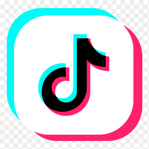 Tiktok logo on transparen background PNG