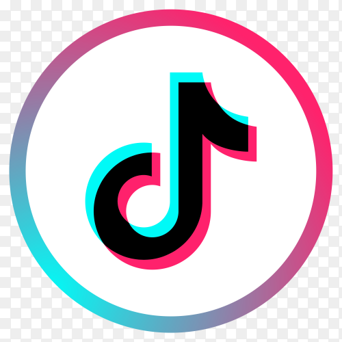 Tiktok logo on transparent PNG