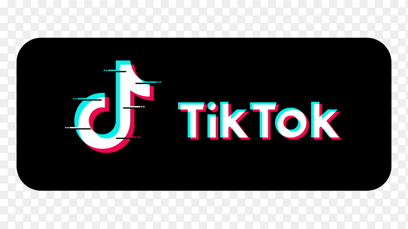 Tiktok social media icon logo on transparent background PNG