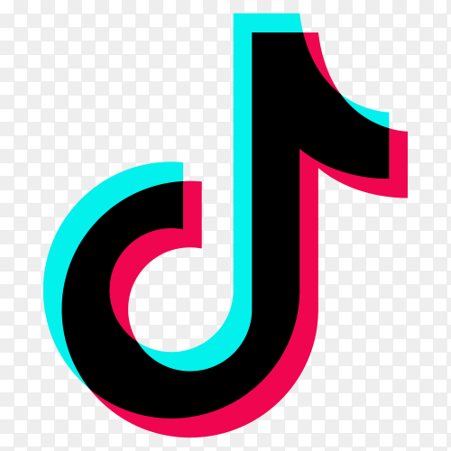 Tiktok social media logo on transparent background PNG